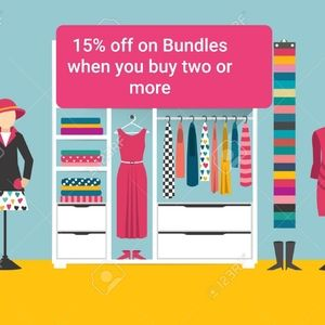 Save 15% off on Bundles of Two or More